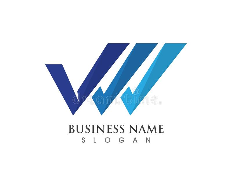 Vetores do logotipo e do símbolo de V ilustração do vetor