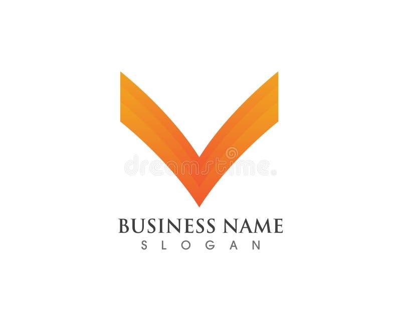 Vetores do logotipo e do símbolo de V ilustração royalty free