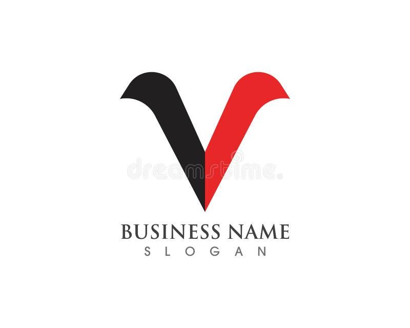 Vetores do logotipo e do símbolo de V ilustração stock