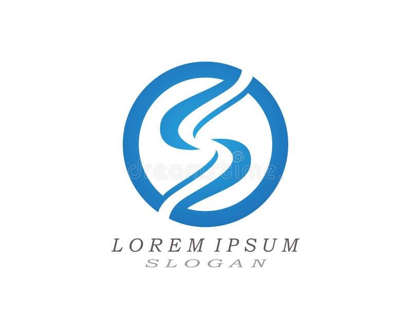 Vetores do projeto do logotipo e do s?mbolo da letra de S ilustração royalty free
