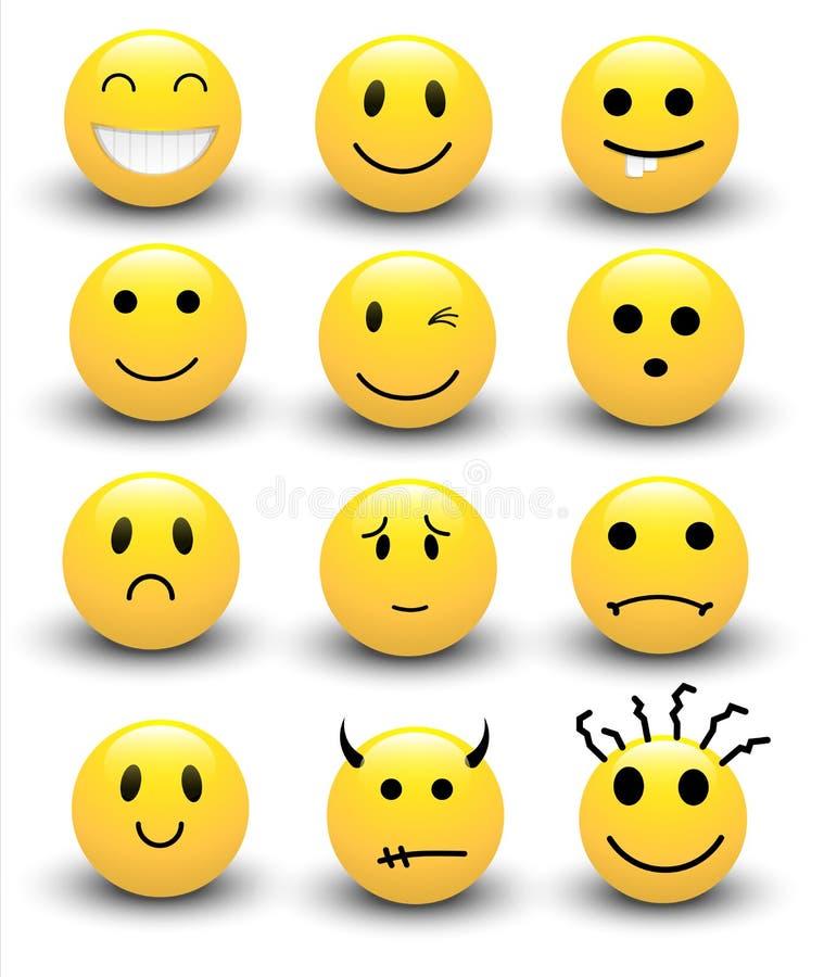 Vetores dos smiley ilustração stock