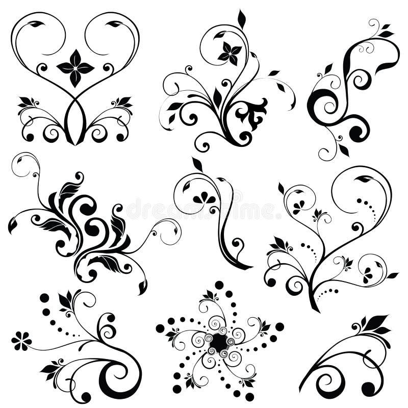 Vetores florais ilustração stock