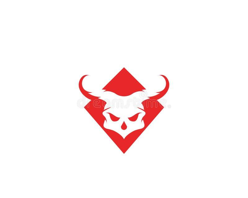 Vetores principais do logotipo e do símbolo do crânio ilustração do vetor