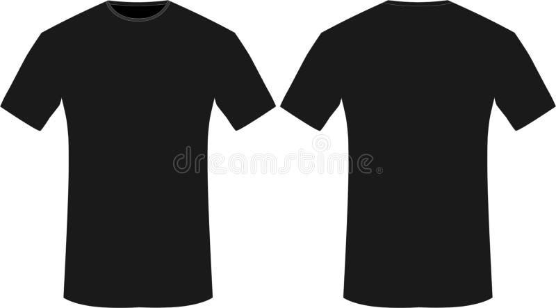 Vetores vazios do t-shirt ilustração stock