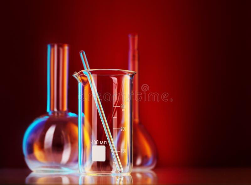 Vetreria per laboratorio immagini stock