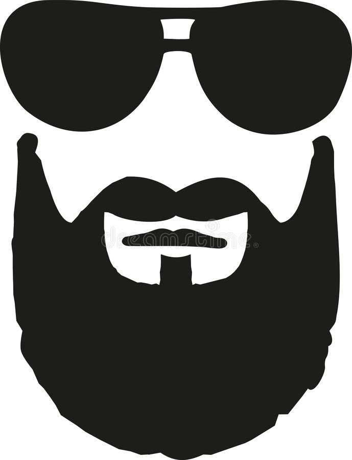 Vetri con la barba folta illustrazione vettoriale