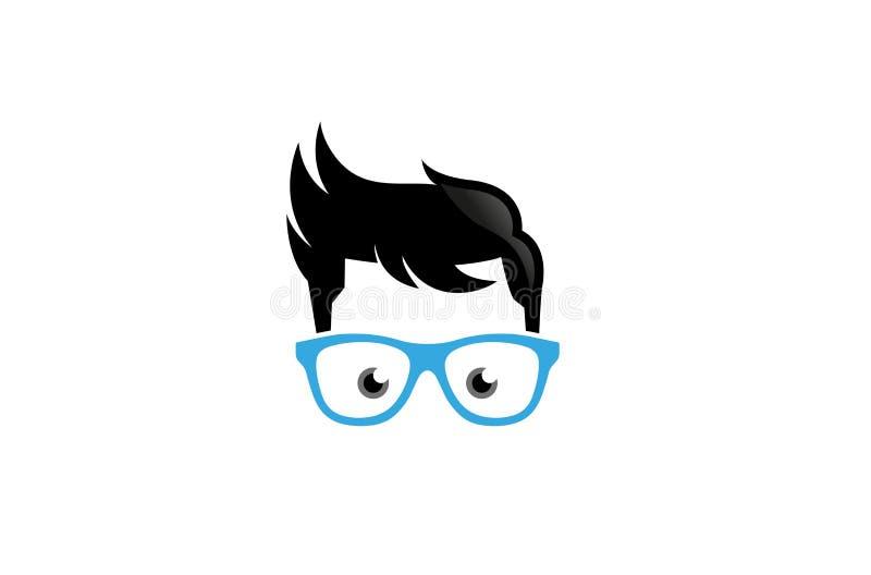 Vetri creativi Logo Design Vector Symbol Illustration del geek royalty illustrazione gratis