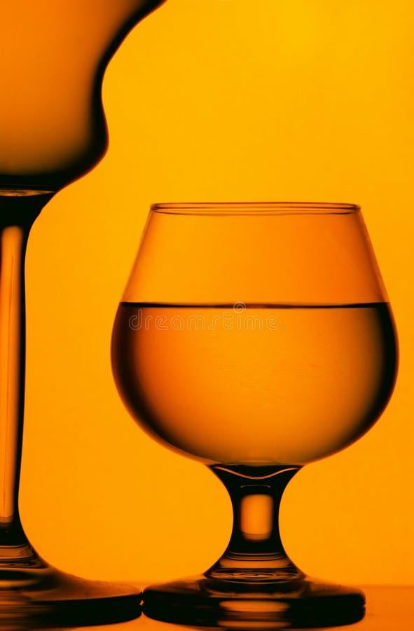 Vetri del cognac e del vino fotografia stock libera da diritti