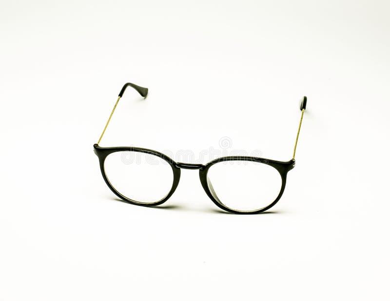 Vetri del nerd isolati su bianco fotografia stock libera da diritti
