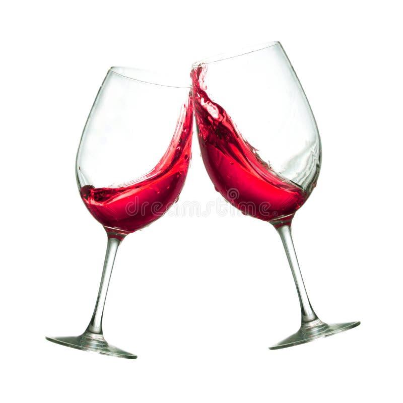 Vetri del vino rosso fotografia stock