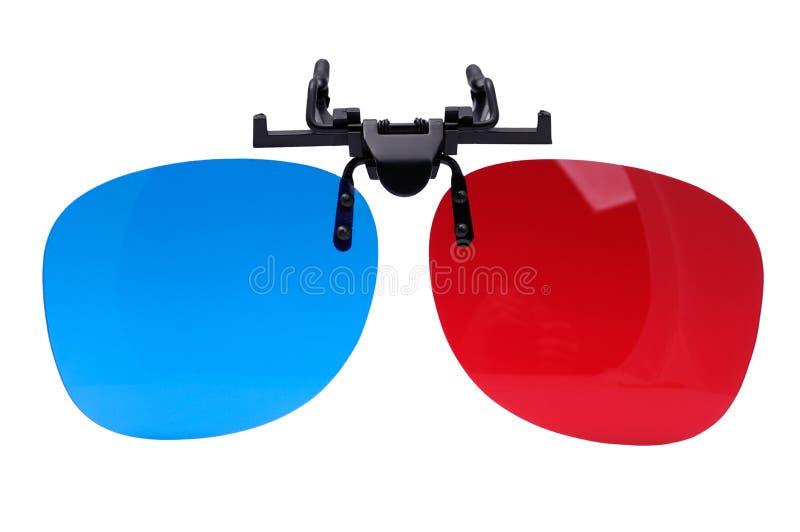 Vetri dell'anaglifo 3D fotografie stock