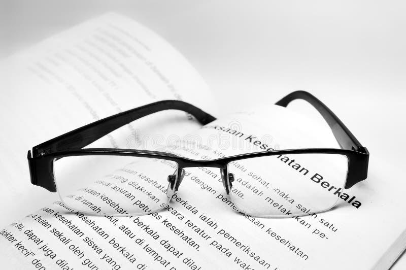 Vetri dell'occhio nel libro isolato fotografie stock libere da diritti
