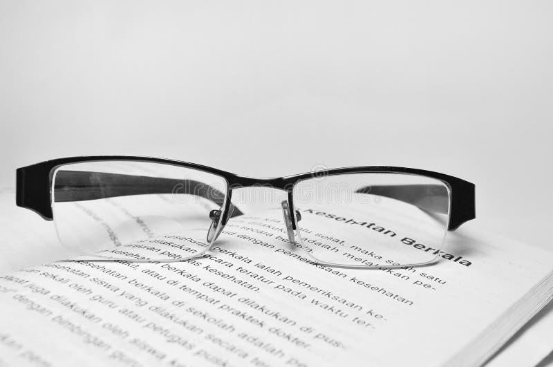 Vetri dell'occhio nel libro isolato immagine stock libera da diritti