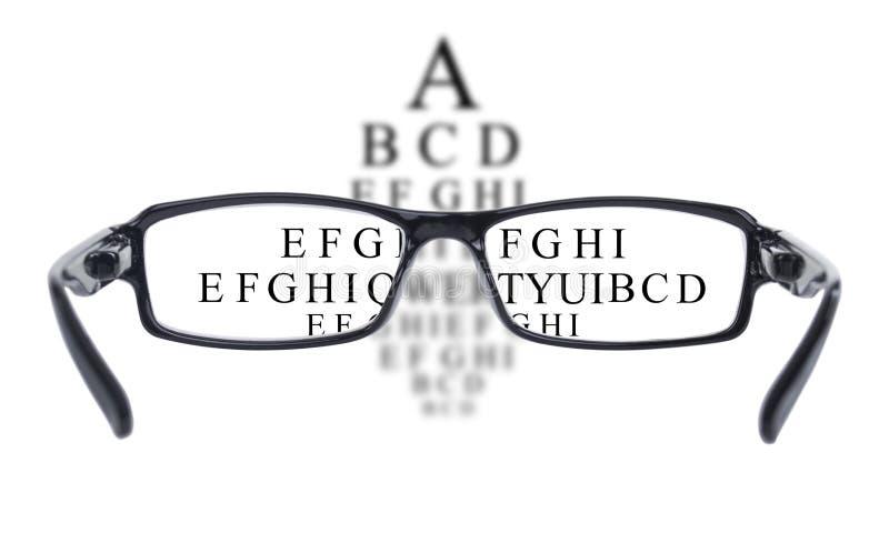 Vetri dell'occhio visti attraverso prova di vista fotografie stock libere da diritti