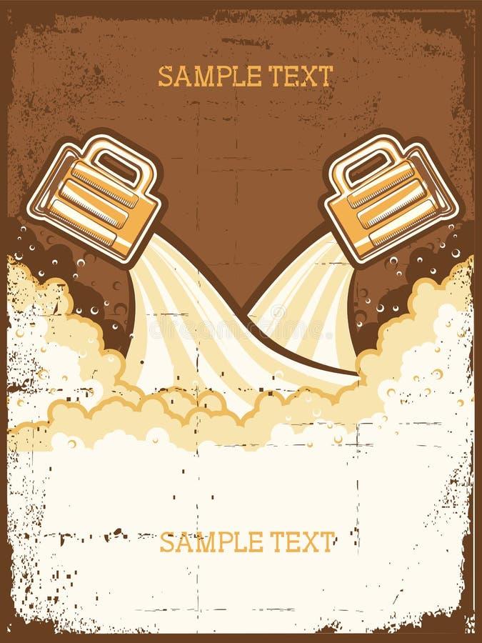 Vetri di birra. illustrazione di stock