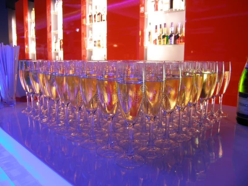 Vetri di Champagne immagini stock