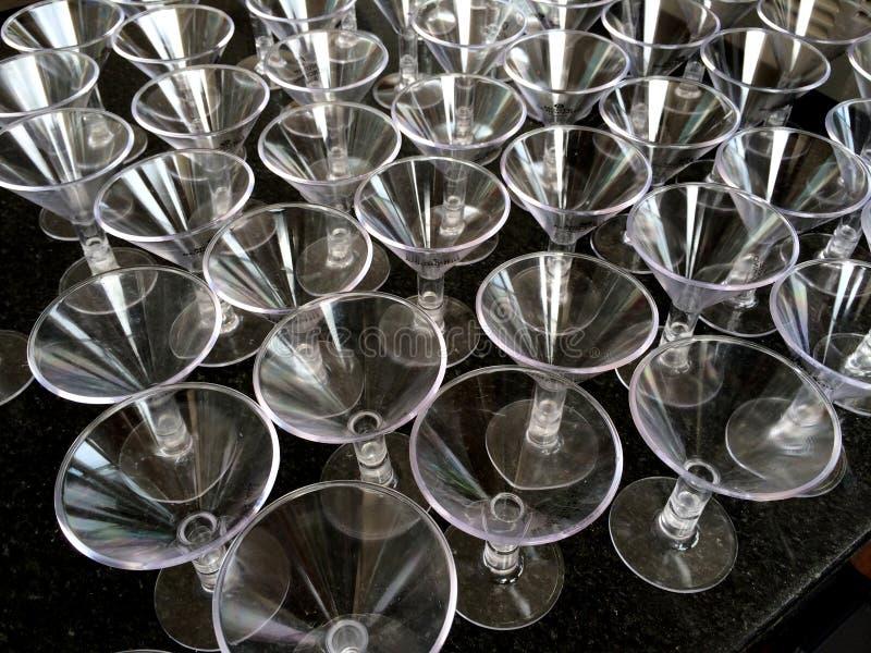 Vetri di cocktail di plastica fotografie stock