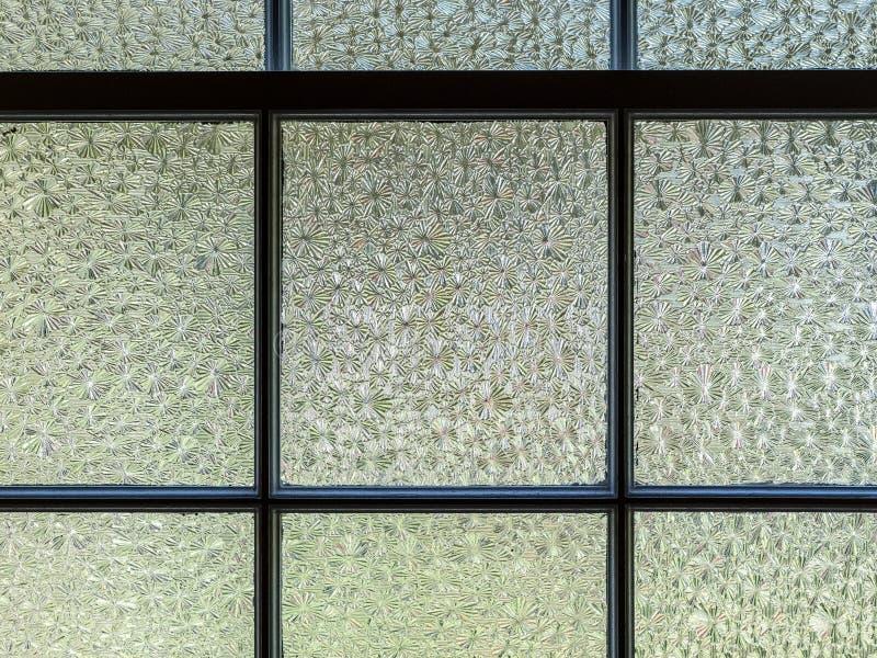 Vetri di finestra del Strutturato-vetro fotografia stock