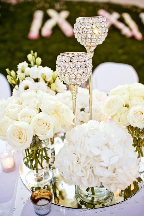 Vetri di nozze impostati fotografie stock libere da diritti