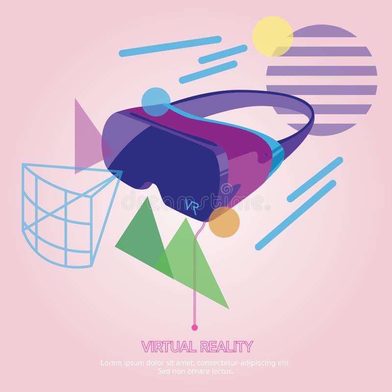 Vetri di tecnologia dell'interfaccia di realtà virtuale immagini stock