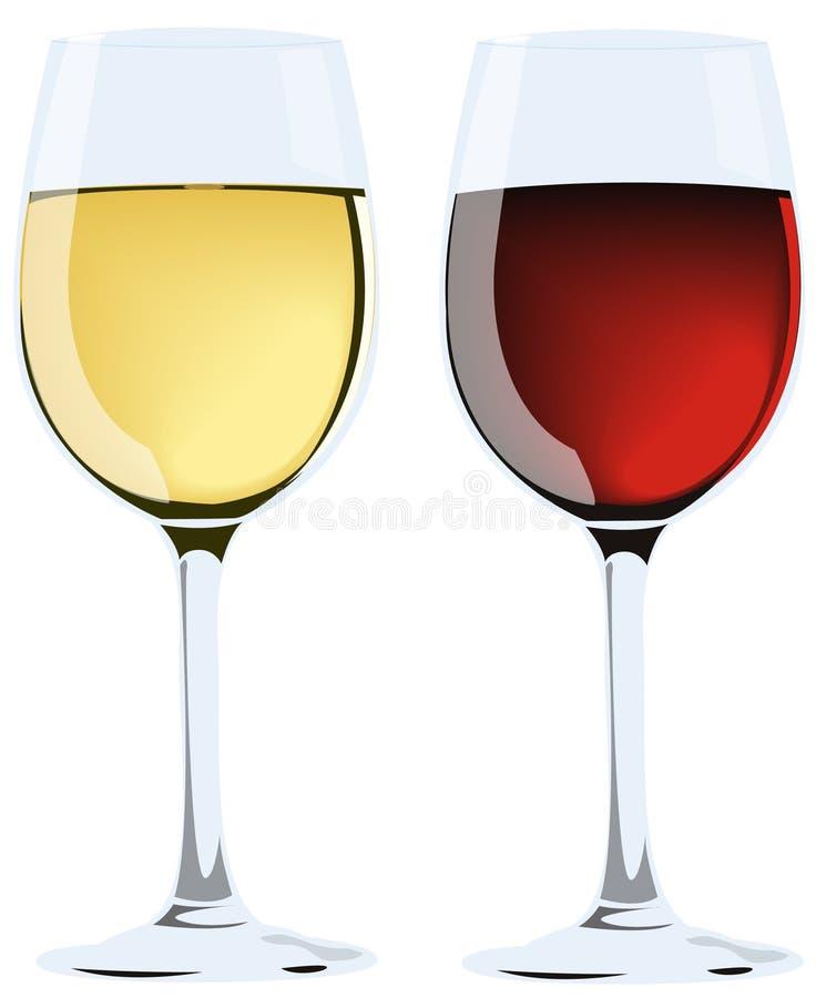 Vetri di vino illustrazione vettoriale