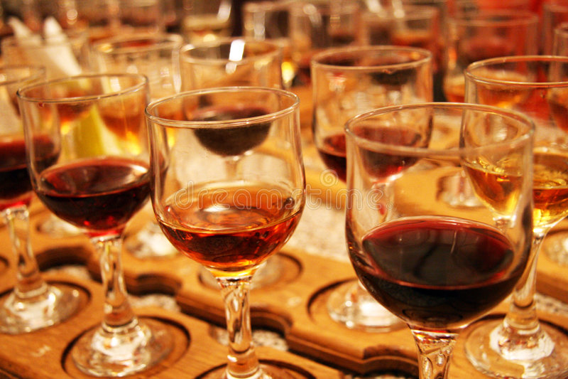 Vetri di vino fotografie stock