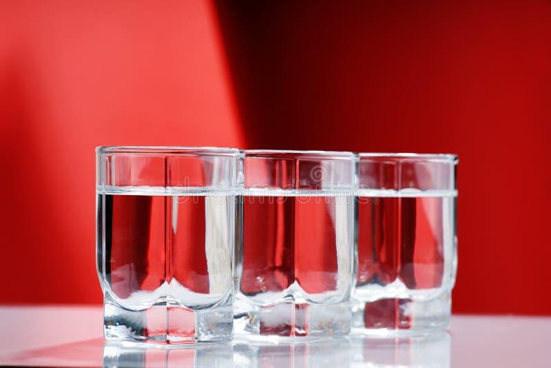 Vetri di vodka immagini stock