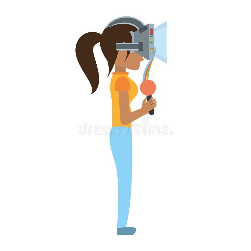vetri e controllo di realtà virtuale di usura di donna royalty illustrazione gratis