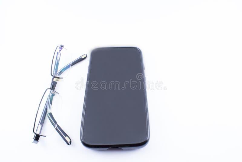 Vetri e smartphone immagine stock libera da diritti