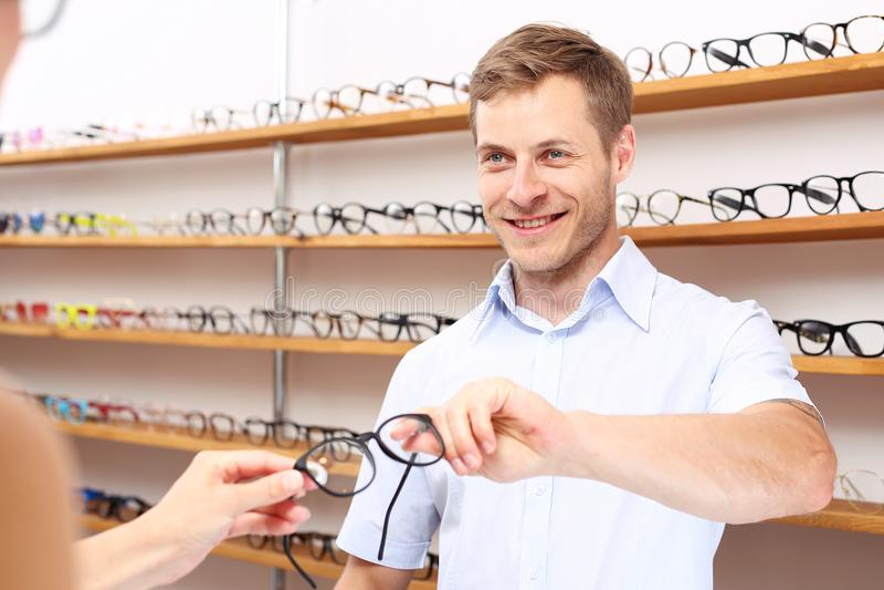Vetri optician fotografie stock libere da diritti