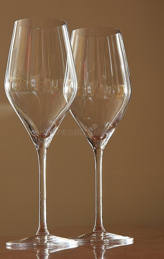 Vetri per vino spumante immagini stock