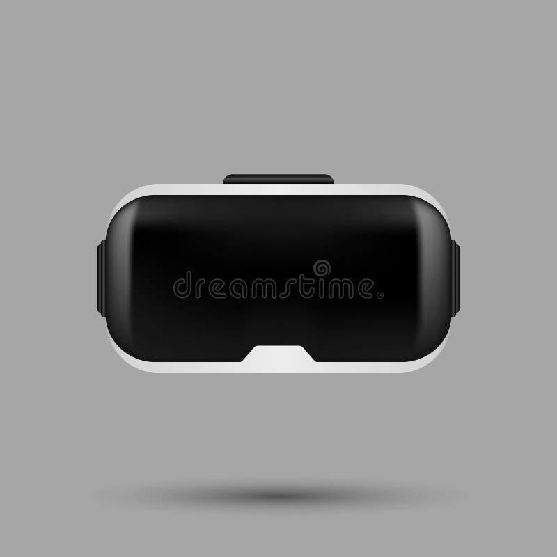Vetri realistici bianchi di realtà virtuale di VR Cuffia avricolare IL di gioco di VR immagini stock libere da diritti