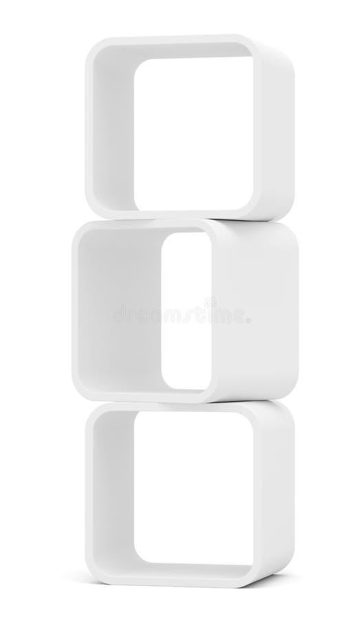 Vetrina arrotondata bianco vuoto Isolato illustrazione di stock