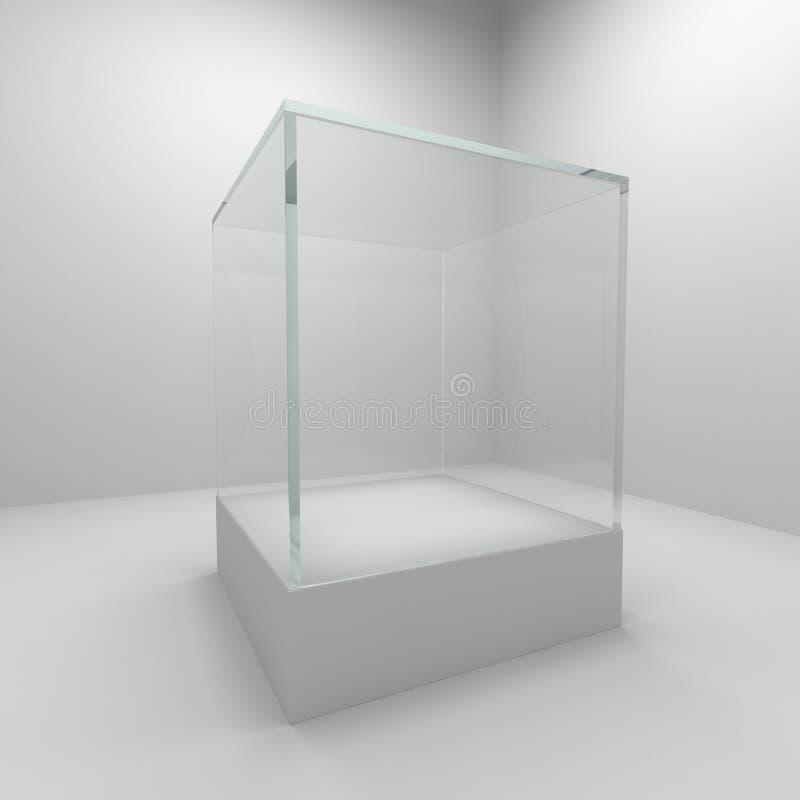 Vetrina di vetro vuota royalty illustrazione gratis