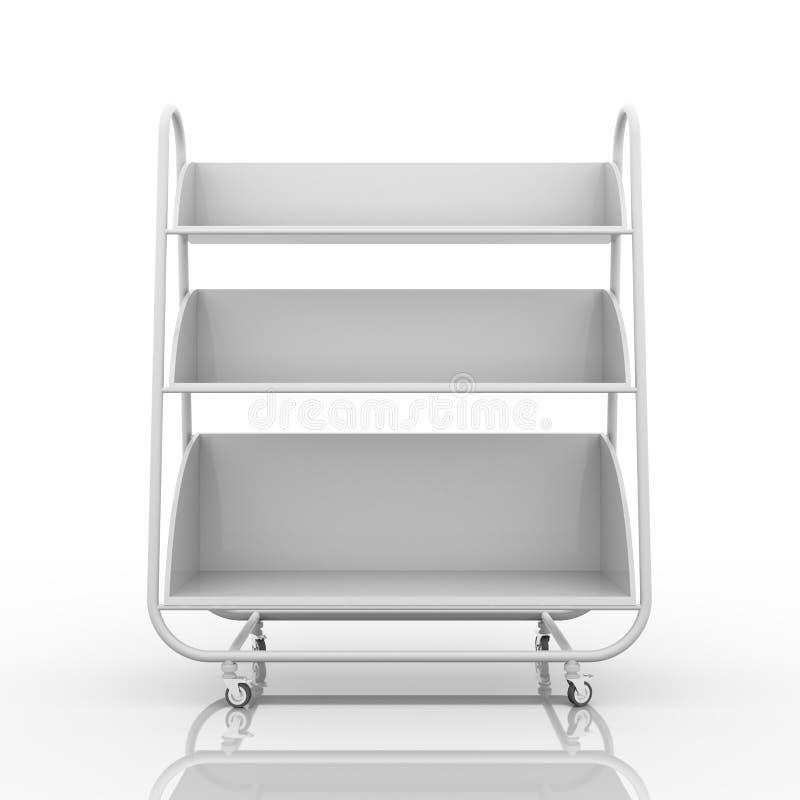 Vetrina mobile bianca vuota royalty illustrazione gratis