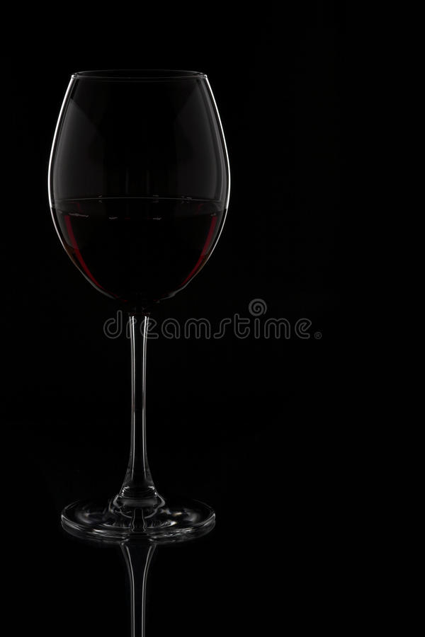 Vetro & bottiglia di vino fotografie stock