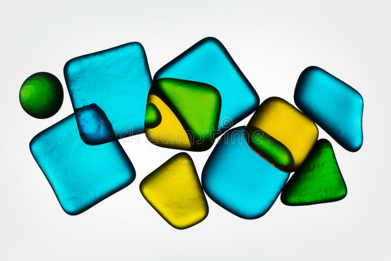 Vetro colorato immagine stock