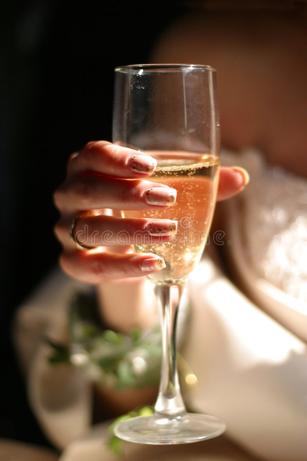 Vetro con champagne immagini stock