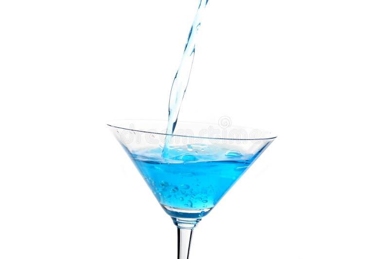 Vetro con il cocktail blu 2 fotografia stock libera da diritti