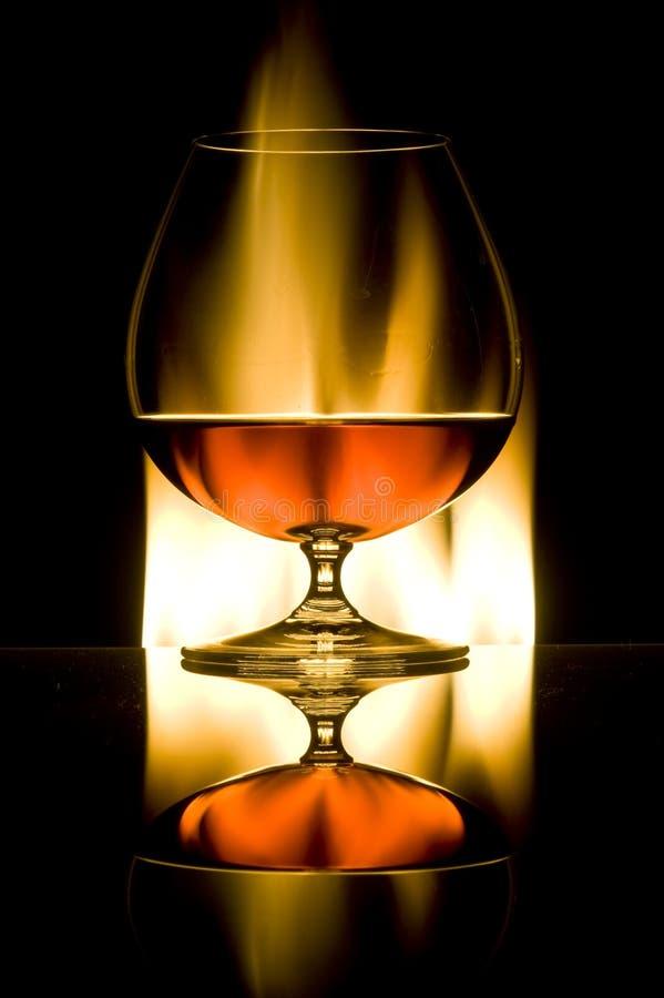Vetro con il cognac fotografie stock