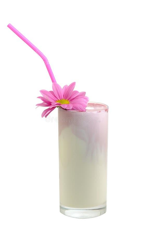 Vetro con un latte - scossa fotografia stock