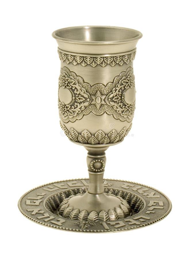 Vetro d'argento per vino, immagini stock