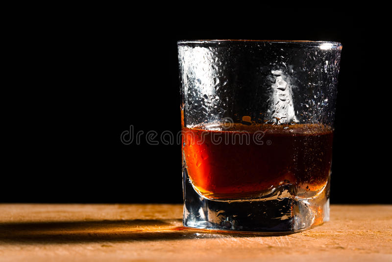 Vetro da whisky fotografia stock