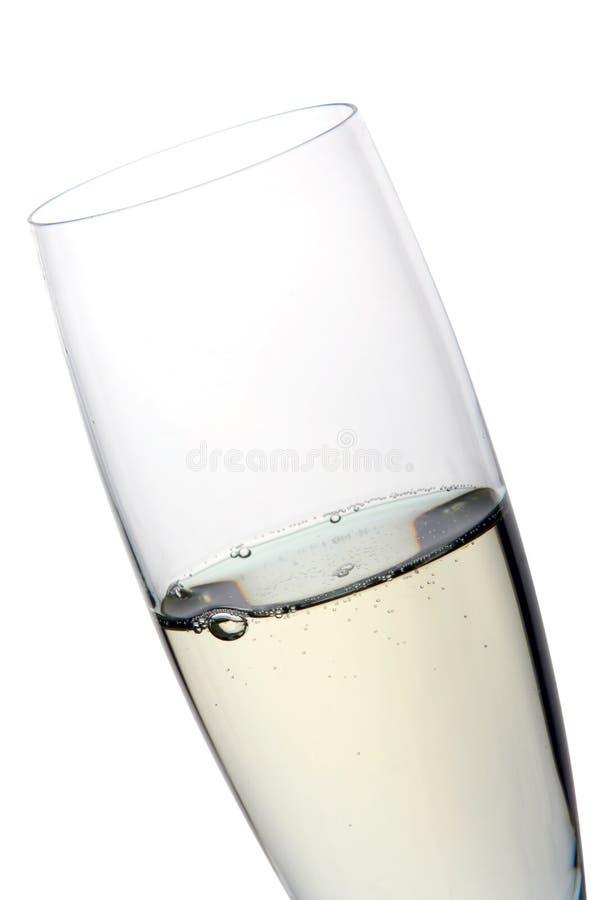 Vetro del calice con champagne fotografia stock