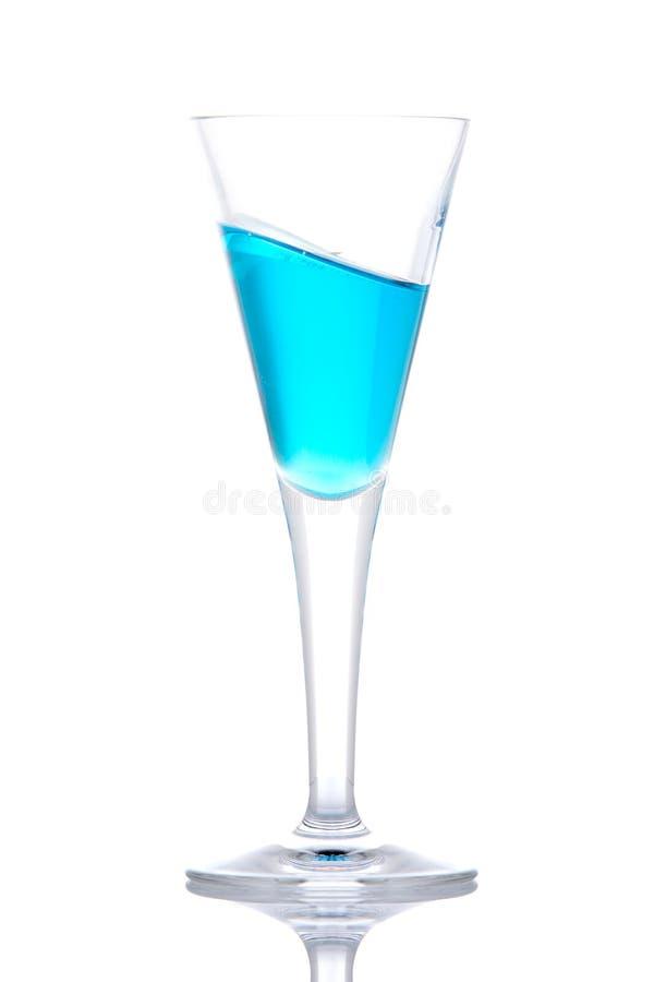 Vetro del cocktail blu di paradiso immagine stock libera da diritti