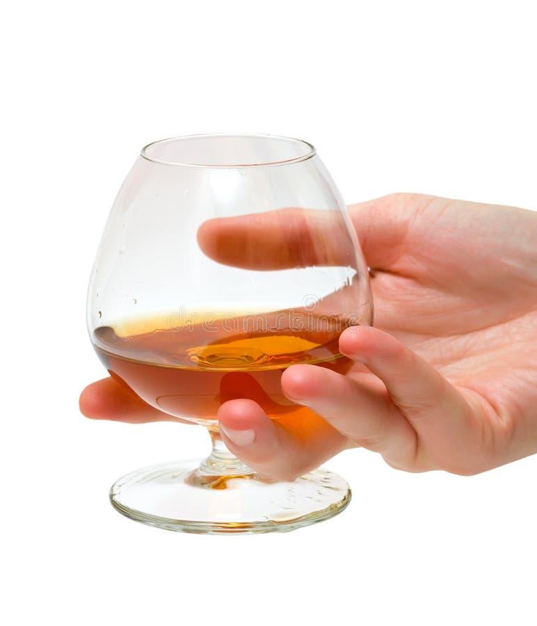 Vetro del cognac fotografie stock libere da diritti