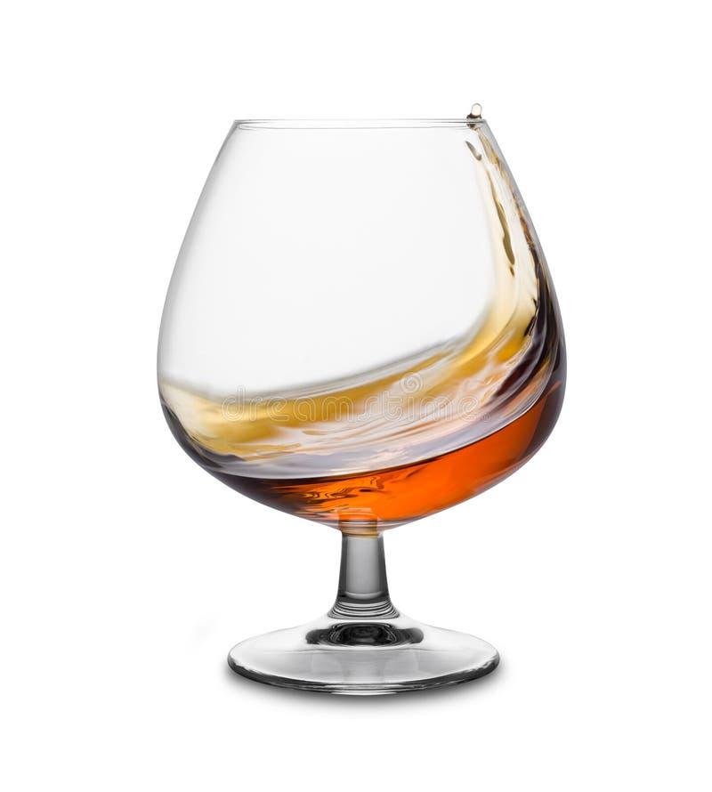 Vetro del cognac fotografia stock