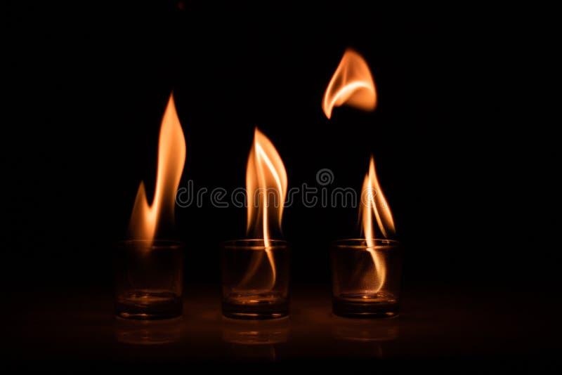 Vetro del fuoco fotografia stock libera da diritti