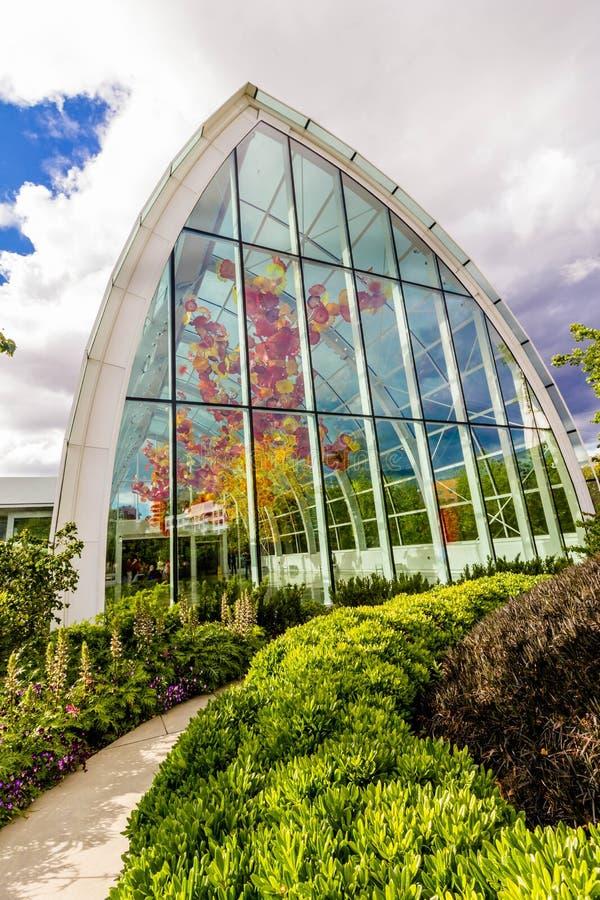 Vetro del giardino n di Chihuly fotografie stock libere da diritti