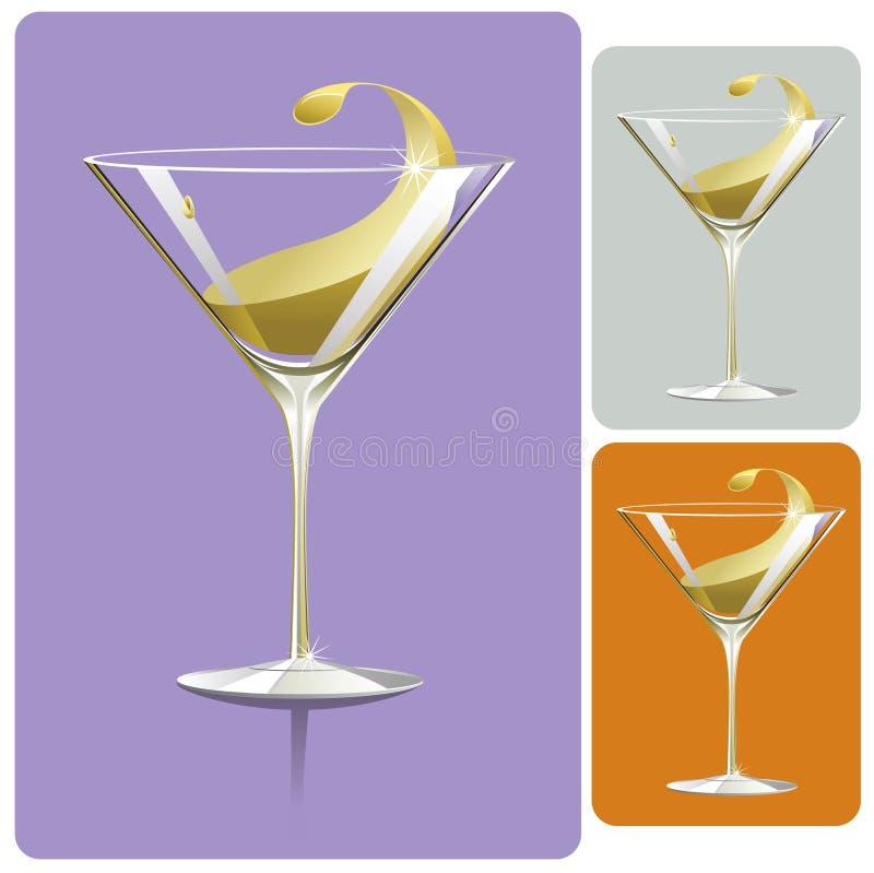 Vetro del Martini illustrazione vettoriale